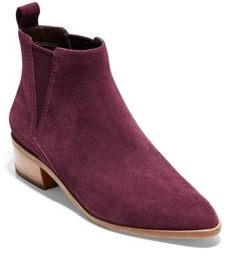 Cole Haan Marinne Suede Almond Toe Ankle Boot