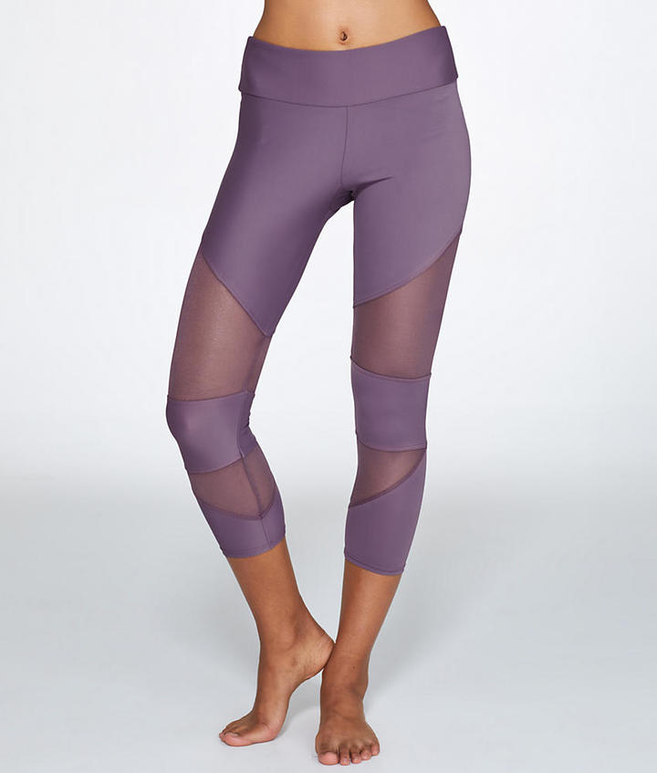 Onzie Mesh Cut Out Capri Activewear - Women's