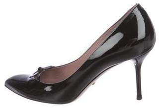 Gucci Patent Leather Pointed-Toe Pumps Black Patent Leather Pointed-Toe Pumps