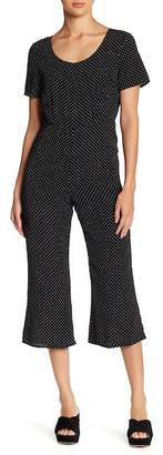 Lucca Couture Polka Dot Crop Leg Jumpsuit