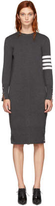 Thom Browne Grey Milano Back To Front Cardigan Dress
