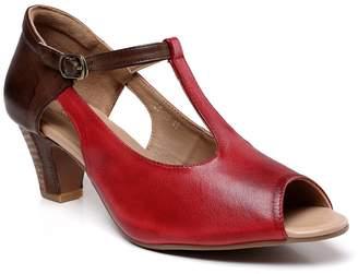Vicenzo Leather Georgina Heeled Ankle Strap Leather Sandal