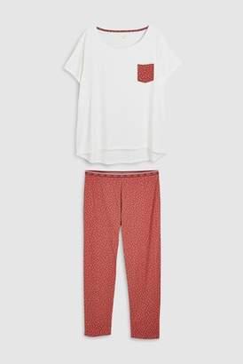 Next Womens Navy Dog Cotton Pyjamas