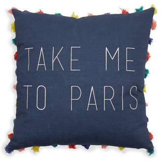 "Take Me to Paris Decorative Throw Pillow, 18x18"" by Drew Barrymore Flower Home"