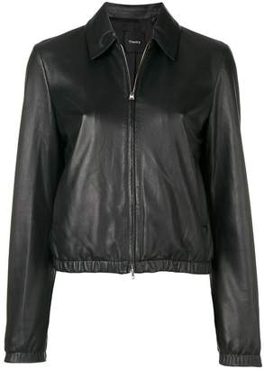 Theory leather zipped jacket
