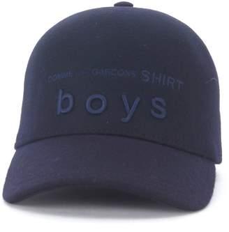 Comme des Garcons Blue Wool Baseball Cap