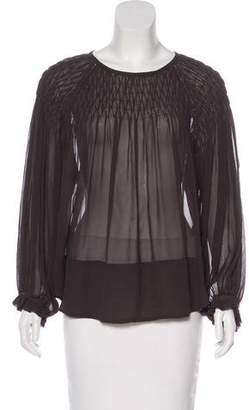 Isabel Marant Silk Ruched Blouse