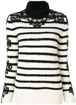Ermanno Scervino lace insert cashmere sweater