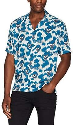 The Kooples Men's Ikat Skull Shirt