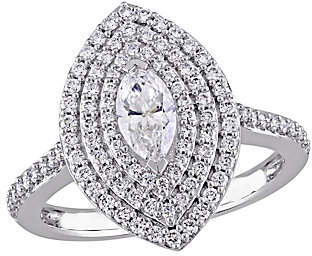 Affinity Diamond Jewelry Marquise Diamond Ring, 14K, 9/10 cttw, by Affinity