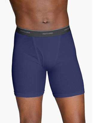 Fruit of the Loom Big Men's Dual Defense Fashion Print/Solid Boxer Briefs Extended Sizes, 4 Pack