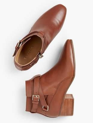 Talbots Dakota Block Heel Ankle Boots - Vachetta Milano Leather