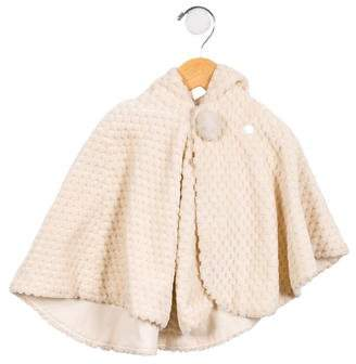 Mikihouse Miki House Girls' Textured Hooded Cape