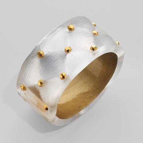 Alexis Bittar Gold Stud Cushion Cuff