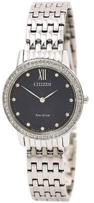 Citizen Eco-Drive Silhouette Crystal Stainless Steel Ladies Watch EX1480-58L