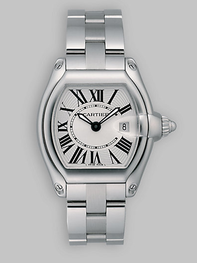 Cartier Roadster Stainless Steel Small Bracelet Watch/White