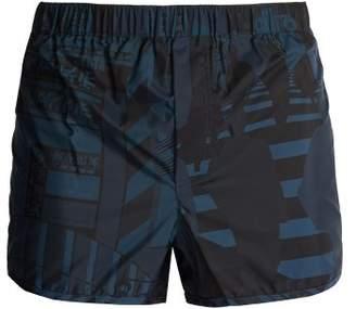 Valentino Tokyo Print Swim Shorts - Mens - Blue