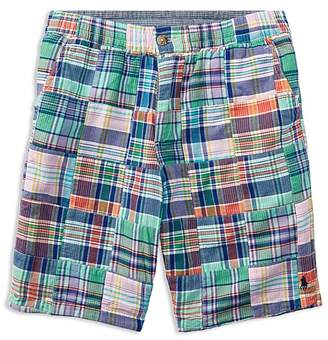 Polo Ralph Lauren Boys' Straight-Fit Reversible Madras Shorts - Big Kid