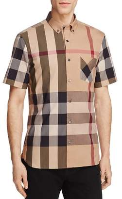 Burberry Thornaby Plaid Regular Fit Button-Down Shirt