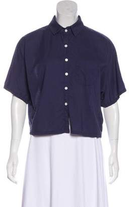 Band Of Outsiders Short Sleeve Button-Up Top