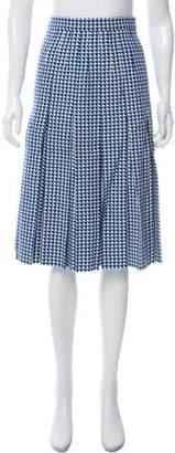Gucci Houndstooth Midi Skirt