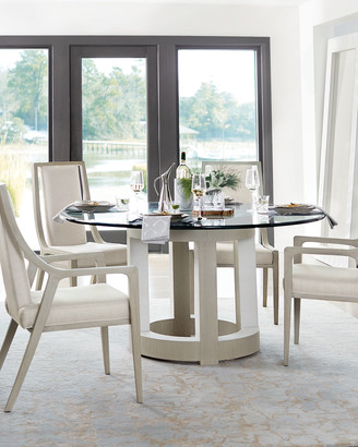 Bernhardt Axiom Round Glass-Top Dining Table 60