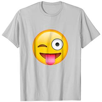 Face Emoticon Tongue Out Emoji with Winking Eye T-shirt