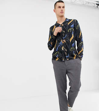 Noak revere shirt with hand print in long sleeves