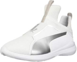 Puma Boy's Fierce Core PS Athletic Shoe, White/Gray Violet