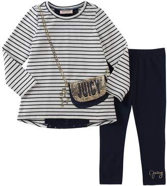 Juicy Couture Striped Sweater & Leggings Set