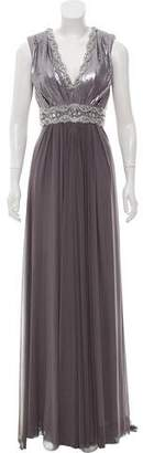 Terani Couture Embellished Sleeveless Gown w/ Tags