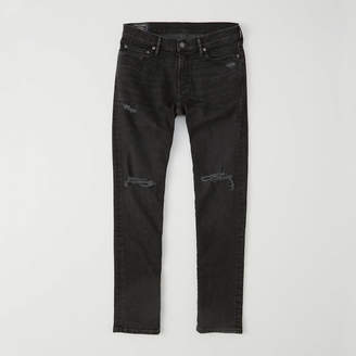 Abercrombie & Fitch A&F Men's Ripped Athletic Skinny Jeans in Ripped Black - Size 30 X 32