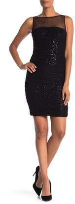 Carmen Marc Valvo Ruched Short Dress