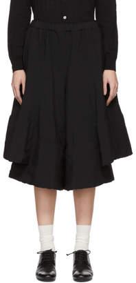 Comme des Garcons Black Layered Voluminous Trousers