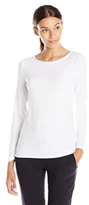 Lark & Ro Women's Three Quarter Sleeve Super Soft Boatneck T-Shirt