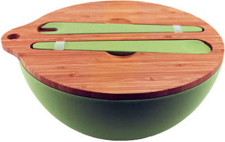 Berghoff Bamboo Covered Salad Bowl w/ Serving Set