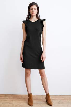 Velvet by Graham & Spencer RUTHY COTTON SLUB FLUTTER SLEEVE DRESS