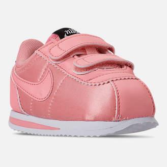 Nike Girls' Toddler Cortez Basic Textile Casual Shoes