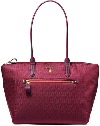 Michael Kors Nylon Kelsey Signature Top Zip Tote