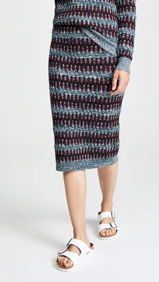 Carven Patterned Midi Skirt