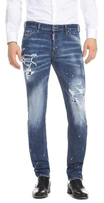 DSQUARED2 Slim Fit Jeans in Medium Wash