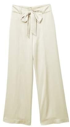 MANGO Satin palazzo trousers