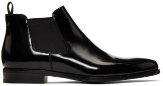 Prada Black Low Chelsea Boots