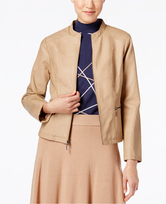 Alfani Seamed Faux-Leather Jacket, Only at Macy's $99.50 thestylecure.com