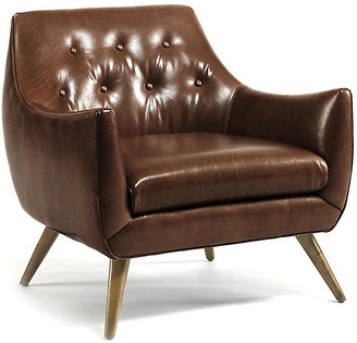 One Kings Lane Marley Club Chair - Caramel Leather
