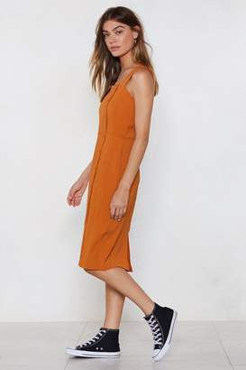 Nasty Gal Middle Ground Midi Dress