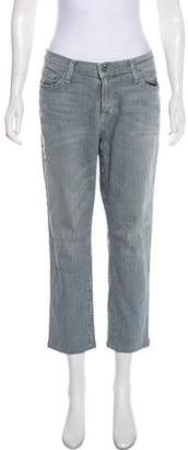 Current/Elliott Striped Mid-Rise Jeans