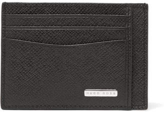 HUGO BOSS Signature Cross-Grain Leather Cardholder