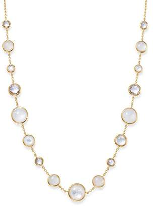 """Ippolita 18K Yellow Gold Lollipop Lollitini Clear Quartz, White Moonstone, Mother-Of-Pearl & Clear Quartz over Mother-Of-Pearl Doublet Necklace, 18"""""""