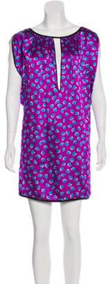 Marc Jacobs Silk Mini Dress Violet Silk Mini Dress
